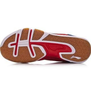 LI-NING 李宁 男子防滑耐磨羽毛球训练鞋  AYTM031-3  亮霓虹/晶蓝色 39.5