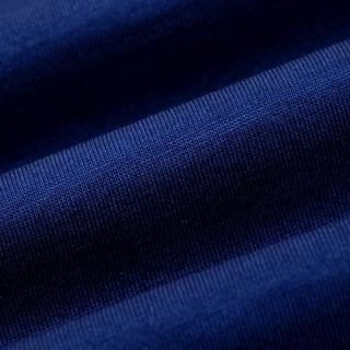 虎都FORDOO短袖T恤男装夏季中青年男士纯棉纯色丝光翻领polo衫商务休闲衣服 HDDT9040 蓝色C 175/L