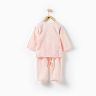 童泰新生婴儿衣服宝宝服0-3个月和服套装 T91J0363 粉色 59