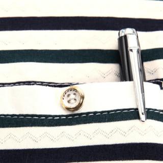 花花公子(PLAYBOY)男士短袖polo衫时尚条纹百搭T恤中老年商务休闲衬衫 桔色 3XL/185