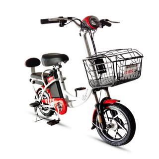 比德文电动车 新国标48V12AH锂电池电动自行车成人代步车可拆卸电池盒助力车 羽巧 奥运珠光蓝
