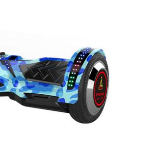 凤凰Phoenix平衡车7寸智能电动自体感漂移车儿童成人两轮手提代步扭扭车 迷彩蓝