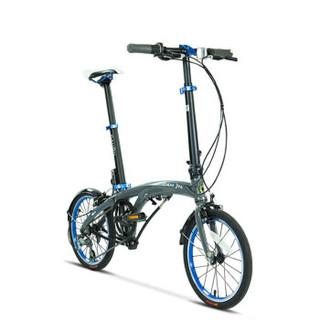 大行(DAHON)16寸3速纵向折叠自行车超轻外变速单车EEZZ JAA634 灰色(厂家发货)