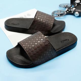 GieniG 家居浴室厚底居家洗澡户外沙滩简约凉拖鞋男款 GI170102 粽色 43码