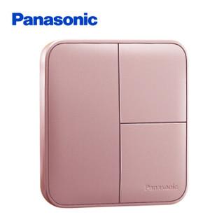 松下( Panasonic)开关插座面板 三开单控开关面板 3开单控墙壁开关 格彩系列86型 WPC505MYL 玫瑰金