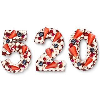 贝思客 红丝绒网红 数字8蛋糕节日创意生日蛋糕 370g