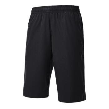 QIAODAN 乔丹 男装运动短裤梭织透气五分裤休闲裤男 XKZ2391339 黑色 200/5XL
