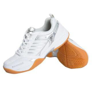 WARRIOR 回力 登山网面羽毛球休闲运动鞋 WR-3089 白灰 39