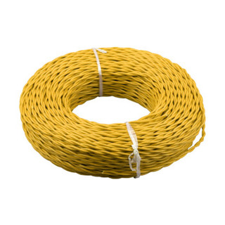 TONGHUI 山东同辉线缆 国标线缆 阻燃交织线ZR-RVS 2×1.5 黄色 100米/盘 此价格为1盘的价格 保检测