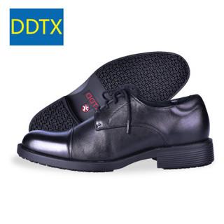 DDTX 电绝缘鞋 14kv头层全粒面牛皮安全透气电工商务男黑色 SRC防滑工作劳保正装厨房轻便 SR0100 黑色 45.5