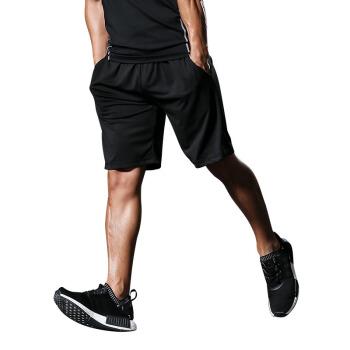 FANDIMU 范迪慕 运动短裤男2019新款健身裤速干透气篮球足球裤训练跑步宽松短裤 FNZ9001-黑色-单件短裤-4XL