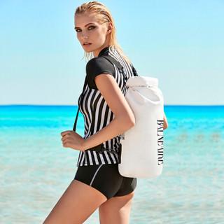 范德安(BALNEAIRE)BFSB004 干湿分离包 防水游泳包男女泳衣收纳袋 双肩背包沙滩手提包 白色