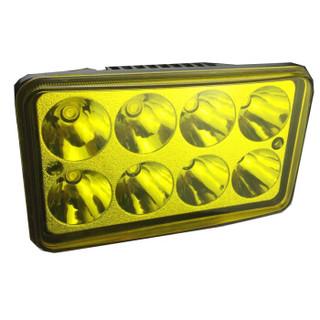 SOSPORT赛奥电动车大灯 电动自行车LED前灯远近光可调 12-80伏通用8珠光杯 黄光