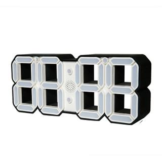 金莱特闹钟 LT86892 3D电子闹钟立体钟创意3D数字挂钟学生静音宿舍闹钟家居创意闹钟(锂电款)