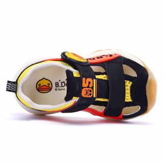 小黄鸭(B.Duck)童鞋男童凉鞋 夏季新款男孩包头防踢透气休闲鞋子 B208A5952黑色27