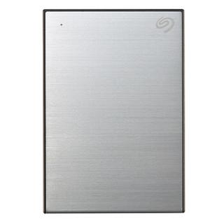 希捷(Seagate)4TB USB3.0 移动硬盘 Backup Plus 铭 2.5英寸 时尚金属拉丝表面 便携 高速传输 高速传输 银