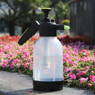 VMP 高压喷水壶 2.0L 花卉植物浇花洒水壶 洗车家用气压式喷雾器 园艺工具 透明色 带长杆 LZ5312