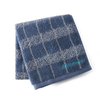 全棉时代(Purcotton) 提花毛圈面巾34*76cm 蓝色格纹 1条装