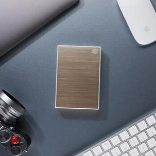 希捷(Seagate)4TB USB3.0 移动硬盘 Backup Plus 铭 2.5英寸 金属拉丝表面 自动备份 兼容Mac 高速传输 金