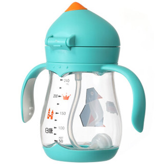 日康(rikang) 宝宝学饮杯婴儿水杯 重力球儿童吸管杯饮水杯240ml(绿)RK-B1032