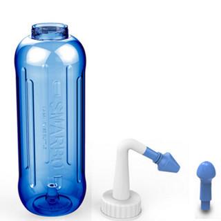 斯迈博(Smarbo)500ml蓝色洗鼻器 鼻腔冲洗器 成人儿童鼻腔护理器 手动洗鼻器1盒装