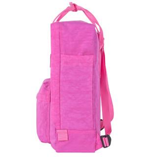 WXD 万信达 WB02032 时尚潮流双肩包闺蜜情侣休闲旅行背包男女学生书包 玫红色