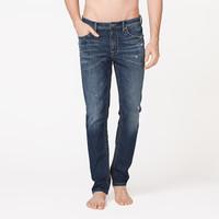 InteRight 经典美式休闲 男士合体修身牛仔裤