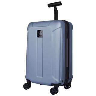 DELSEY 法国大使 商务出行拉杆箱20英寸PC旅行箱可登机行李箱男女T型拉杆ST保安拉链万向轮 608 蓝色