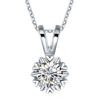 花好玉缘 ZSDZ055 白金钻石吊坠项坠 9分 无色钻石