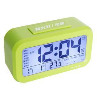 喜诺臣(XNCh)夜光静音智能床头懒人聪明钟学生儿童电子闹钟 充电款529绿色