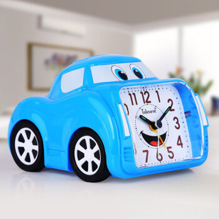 天王星(Telesonic) 闹钟 创意儿童学生卧室静音夜灯床头钟 时尚个性汽车客厅玩具闹表A8138-4