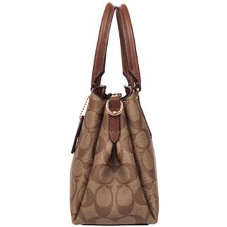 COACH 蔻驰 奢侈品 女士卡其棕色PVC手提肩背斜挎包戴妃包 F29434 IME74