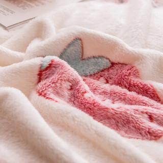 九洲鹿毛毯 云貂绒午睡毯子 150*200cm 办公室小盖毯空调被夏被子毛巾毯毛巾被