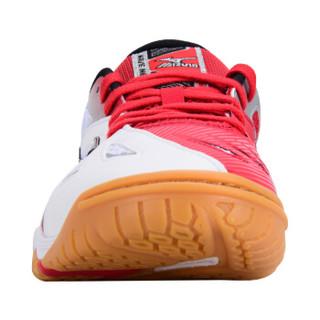 美津浓 乒乓球鞋男款 超轻防滑耐磨减震乒乓球运动鞋 81GA151509 白红 42
