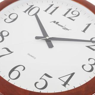 枫叶(MapleLeaf)简约现代静音客厅木质中式壁挂钟挂表 3090-1无液晶