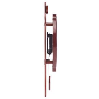 枫叶(MapleLeaf)欧式现代客厅创意静音木质挂钟挂表 板栗色5020