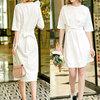 Amii 11960107 女士收腰绑带连衣裙