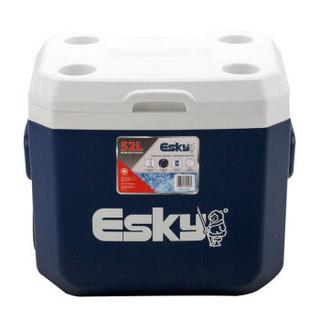 爱斯基 ESKY 52L大容量户外便携食品保温箱 冷藏箱 车载冰桶保温桶拉杆钓鱼冰箱 厂家直发