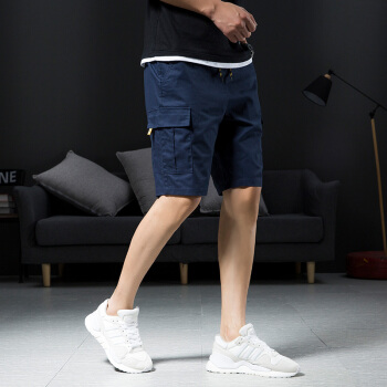 Bejirog 北极绒 短袖短裤男休闲宽松运动跑步国潮短裤潮流T恤套装 182