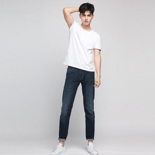 小米有品 99%棉微弹小直筒牛仔裤   72201803  浅蓝 30
