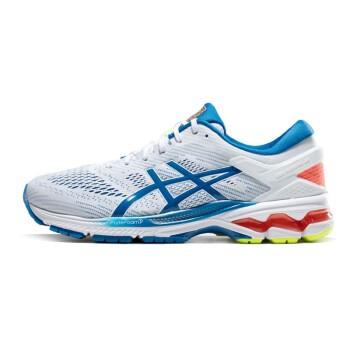 ASICS 亚瑟士 GEL-KAYANO 26 男子顶级支撑跑鞋 (白色、41.5)