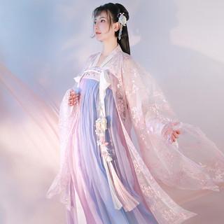 曼 云裳纪春樱紫蓝汉服