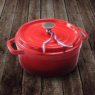 LINTORE 铸彩 铸铁珐琅汤锅 火焰红 24cm
