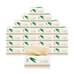 良布(DELLBOO)竹浆本色婴儿抽纸3层100抽24包整箱超韧系列不漂白面巾纸家庭餐巾纸 *3件