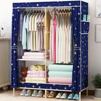 GUSHA 古莎 简易衣柜实木 (粉色、0.53mx0.9m、08)