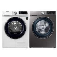 三星洗烘套装9KG烘干机DV90N63636W/SC+10KG洗衣机WW1WN64FTBX/SC