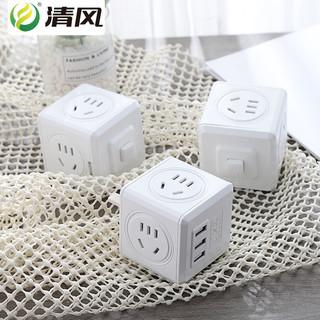 kyfen 清风 QF-M12C 魔方USB插座转换器插头 (1.8m)
