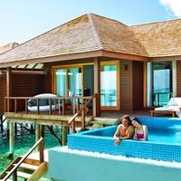 196㎡超大水屋+550㎡沙屋!全国多地-马尔代夫神仙珊瑚岛7天5晚自由行