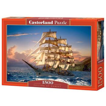 Castorland 波兰进口拼图1500片系列 夕阳下航行151431