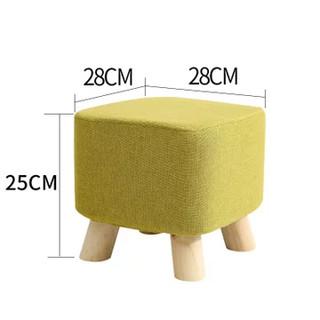 贵人家源 布艺矮凳子  尊贵绿方凳
